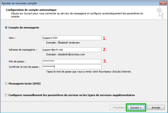 OVH Email: Configuration on Outlook 2007- OVH